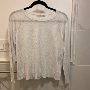Zara knit crew neck sweater